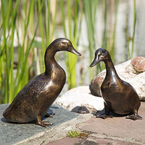 Gärtner Pötschke Bronze-Figuren Entenpaar Luis & Selma