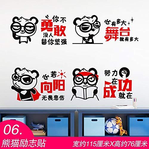 spirierende Aufkleber Süßes Mädchen Kreative Wandaufkleber Aufkleber Kinderzimmer Schlafzimmer Warme Dekoration Selbstklebende Tapete Panda Inspirierende Aufkleber ()