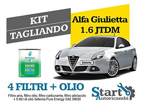 Kit Tagliando Olio Selenia + Filtri CODICE AR166S