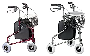 Homecraft Three Wheeled Rollator with Cable Brakes