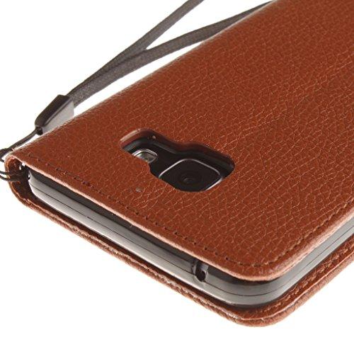 Custodia Iphone 7, w-pigcase Solid colore PU Custodia in pelle con chiusura magnetica e ID/porta carte di credito funzione stand bookstyle portafoglio protettiva in pelle portatile sotti