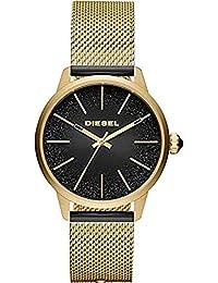 72ea9b989984 Diesel Reloj Analógico para Mujer de Cuarzo con Correa en Acero Inoxidable  DZ5576