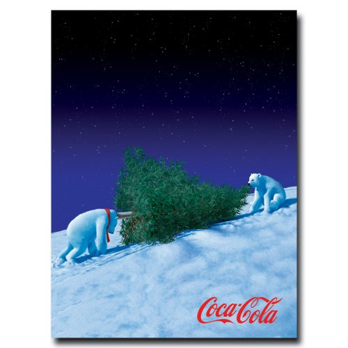 coke-polar-bears-with-christmas-tree-18-x-24-inches