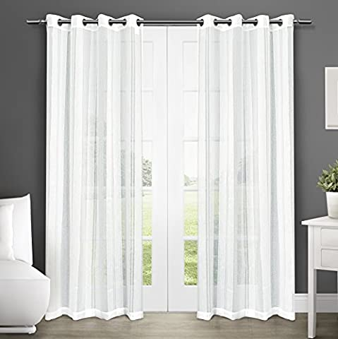 Exclusive Home Curtains Apollo Sheer Grommet Top Window Curtain Panel