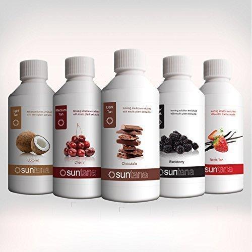 Suntana parfumé Spray Tan Solution 'Famous Cinq' - 5 x 250ml Lot
