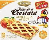 Falcone Francio di Crostata, Albicocca e Pesca con Farina di Saragolla - 240 gr