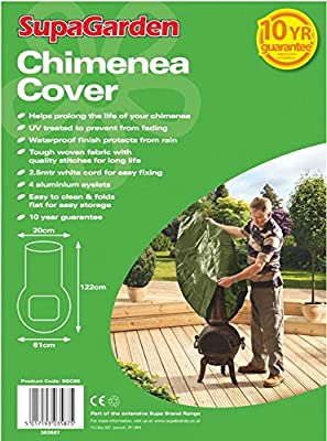 SupaGarden Heavy duty large Chimenea cover 122cms x 61cms