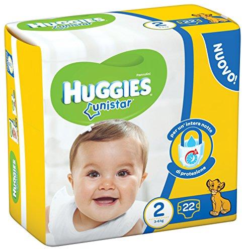 Huggies - Unistar - Pañales - Talla 2 (3-6 kg) - 22 pañales