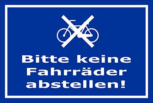 Melis Folienwerkstatt Schild - Fahrräder abstellen - 15x10cm   3mm Hartschaum - S00050-049-F -20 Varianten