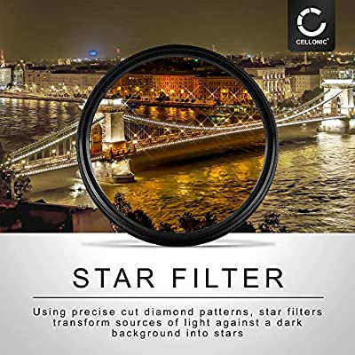 CELLONIC Star Filter compatible with Canon Series 52mm Point Cross Filter Starburst Effect