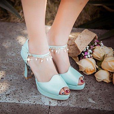 LvYuan Da donna-Sandali-Formale Casual Serata e festa-Altro-Quadrato-PU (Poliuretano)-Blu Rosa Bianco Blue