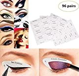 Huihuger 96 Paar Eyeliner-Schablone, Lidschatten-Vorlage, professionelles Augenbrauen-Formen, Schnelles Make-up-Werkzeug