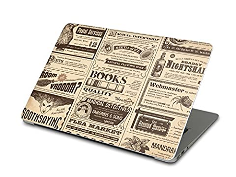 Autocollant pour Apple MacBook Air 13 | Vinyle skin sticker arrière Ordinateur Portable | Coque protectrice - image photo classe | Design Vintage Newspaper