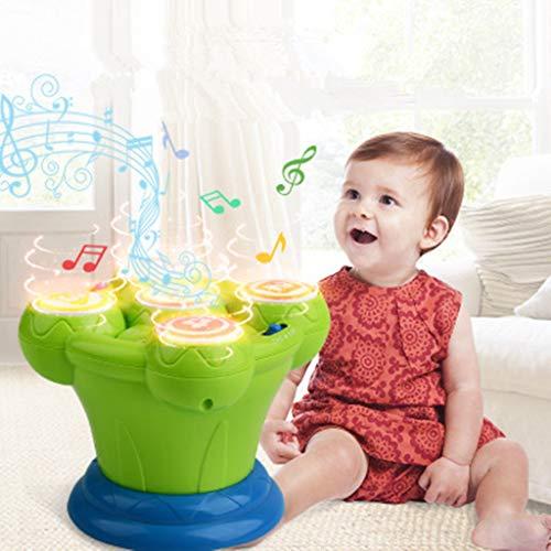 Mitlfuny Kawaii Langsam Dekompression Creme Duftenden Groß Squishy Spielzeug Squeeze Spielzeug,Musikalisches Kindertrommel-Kind-Bunte Musik-Spielzeug-Kleinkind-pädagogisches Spiel-Baby-Lichter