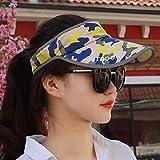 XINQING-MZ Hat la ragazza a cavallo versione di svuotare la parte superiore del cappuccio di mimetizzazione black hats ombreggiata cappuccio sun giovane cap uomini e donne generico, color/UNA