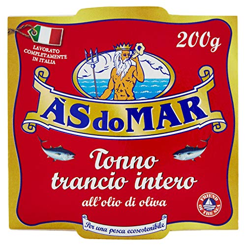 Asdomar - Trancio intero di tonno all'olio di oliva - 4 confezioni da 200 Grammi