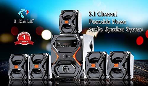 IKALL IK-222 BT 5.1 Channel Portable Home Theater Music System (Fm, Aux, USB, Bluetooth, Black)