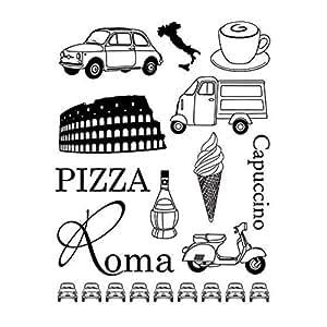 Tampon Rome - Tampon scrapbooking Italie