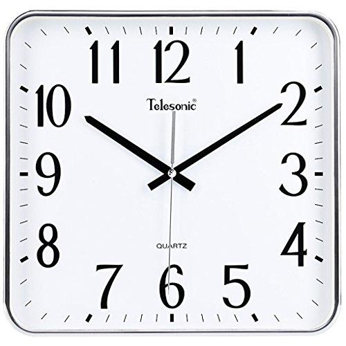 Horloge murale classique Mode Créative Salon Chambre Entrée Horloge Murale, Anti-atomisant Plaquage De Verre Bordure Galvanoplastie Or Noir Et Argent Rond Personnalité Simple Et Silencieux Balayage Ba