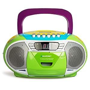 BLAUPUNKT B 11 MC tragbares CD-Radio mit Kassettenplayer (LED-Display, Backlight, 2x 1 Watt, UKW/MW-Tuner) multicolor