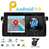 Android 9.0 Single DIN Autoradio GPS passend für BMW E46 3er 1998-2005 Multimedia Bluetooth WiFi Mirrorlink Lenkradsteuerung 22,9 cm Touch Screen 4G DVR OBD2 DAB+ kostenlose Rückfahrkamera