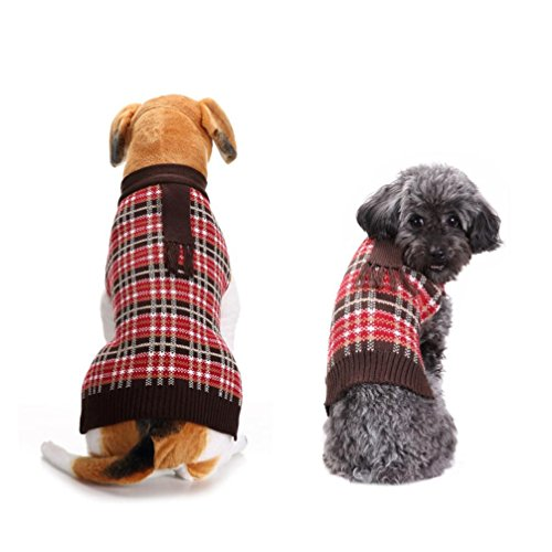 Kleiner Hund Pullover, Tianya Pet Dog Cat Cute weichen PLAIDED Kabel Knit Strickwaren Pullover Kalten Winter Warm Puppy Pullover Pullover Shirt Kostüme Kleidung (Strickwaren-kabel)