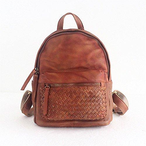 la nuova borsa di pelle retro spazzola colore,marrone - rossiccia marrone - rossiccia