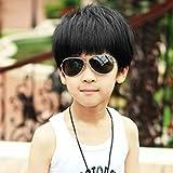 Boy Príncipe SpritechTM bastante mullido realista cortocicuitos fibra peluca de pelo sintético peluca, negro, 5-10 years old