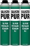 SILISTO 3 Dosen x 750ml PU Einkomponentiger Pistolenschaum 71007N-3stück-