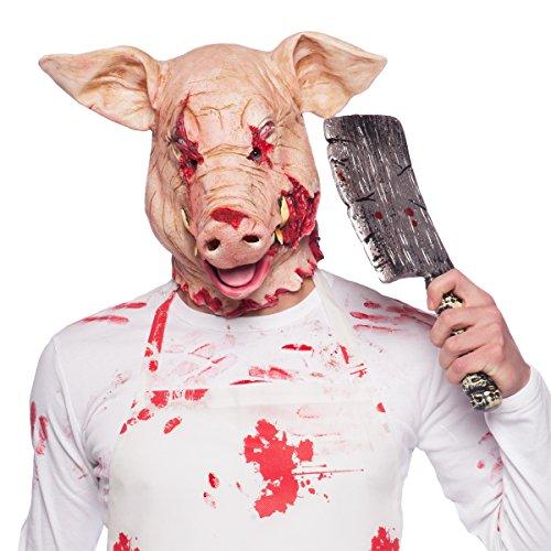 Horror Latex Maske Grusel Schwein (Schweine Erwachsene Maske Latex)