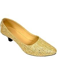 Altek Desginer Golden Heel Ballerina (foot_1334_golden)