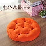 WDZA Runde Futon Kissen Baumwolle Dicke Sitzkissen Stoffen, 48 X 8 Cm, Orange Rot