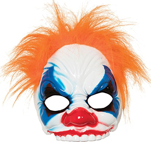 onlyglobal Erwachsene Halloween Horror Party Kostüm Böser Clown Maske mit Haaren