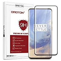‏‪OMOTON Oneplus 7 Pro Full Coverage Tempered Glass Screen Protector with [3D Curved Edge to Edge] [9H Hardness Anti-Scratch] [Non-Bubbles]‬‏