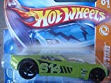 Hot Wheels Track Stars Series Nitro Doorslammer, Green, Chrome Interior Sittin' on Black FTE's Collector #1, 1/64 2008 by Hot Wheels