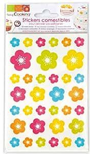 Stickers alimentaires - fleurs - Scrapcooking