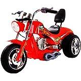 Kids 6V Chopper Style Ride On Bike - Red by Scream