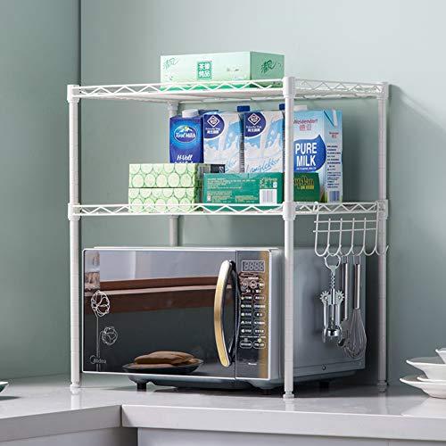 WMLD Double Layer Mikrowelle Rack,stikkenwagen,küche Stock-Rack Mikrowellen-Rack,Seasonin
