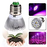 Esbaybulbs Led Grow Light Bulbs,Full Spectrum Grow Lamp,E27 28W LED Grow Lights,Professional for Seedling Growing Blooming Fruiting (4 Pack) Bild 4