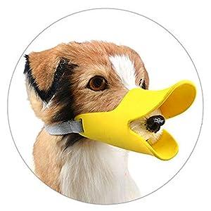 Alizeal Muselière Chien en Silicone Ultra Doux Muselière Réglable Anti-aboiement Forme de Duckbill Ornithorynque