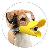 enjoymore Hunde-Maulkorb im Entenschnabel-Design, aus weichem Silikon, Beiß- und Bellschutz für Haustiere, verstellbar, Sicherheits-Maulkorb zum Überziehen
