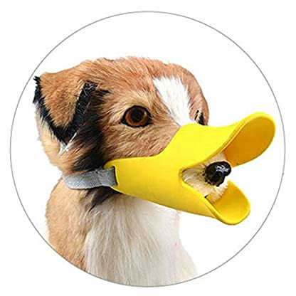 Enjoymore Pet Dog Muzzle Ultra-Soft Silicone Duckbill Mouth Sleeve Anti-biting Barking Pet Dog Adjustable Safety Muzzle… 1