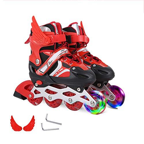 ZCRFY Roller Inline Skates Kinder Roller Skates Anfänger Mädchen Jungen Kind Männer Und Frauen Einstellbar 3-12 Jahre Alt Kinder Rollerblades...
