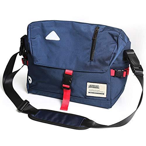 e Passenden Umhängetasche Herren Trend Umhängetasche Weibliche Umhängetasche Tote Fliege Tasche Outdoor Reiten Tasche Reflektierende Streifen Stabil (Color : Blue) ()