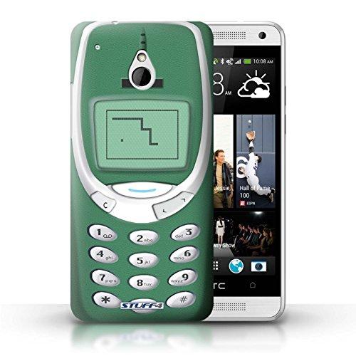 Kobalt® Imprimé Etui / Coque pour HTC One/1 Mini / Nokia 8210 jaune conception / Série Portables rétro Nokia 3310 vert