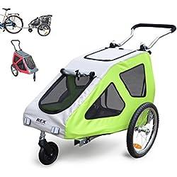 PAPILIOSHOP REX Remolque y carrito cochecito para el transporte de perro perros mascota por bici bicicleta carro bicicletas silla de paseo