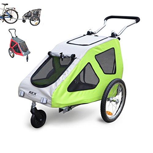 PAPILIOSHOP REX Hundeanhänger Fahrradanhänger Anhänger Hundetransporter und Wagen für den Transport von Hunden Hund Tiere Wagen Caddy Anhänger Fahrrad Jogger Hundewagen Kinderwagen