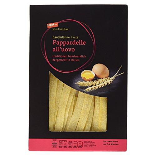 Tegut vom Feinsten Hauchdünne Pasta Pappardelle all'ouvo, 6er Pack (6 x 250 g)