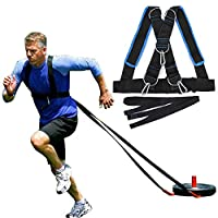 Briday Fitness Sled Harness Workout Speed Trainer with Pull Strap for Workout Resistance and Assistance Trainer Physical Training Resistance Rope Kit Improving Speed, Stamina and Strength