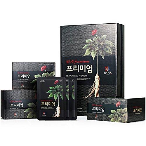 Chamdahan Korean Ginseng rosso Nero Premium (50 ml X 30 Sacchetti)